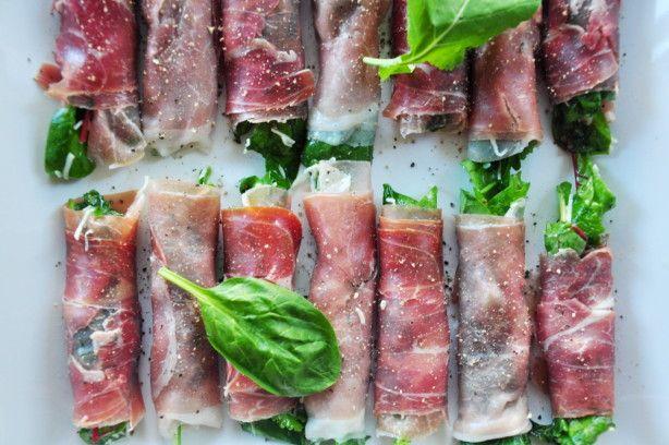 Prosciutto-wrapped Greens