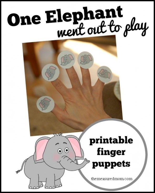 Free printable finger puppets fora  fun rhyme - my toddler has been singing this song all around the house!