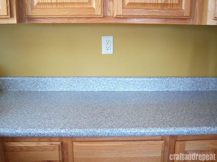 Temporary Countertop Options : Six Dollar Kitchen Countertop Transformation Countertops, Happy and ...