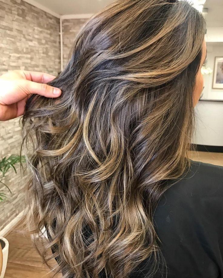 79 Honey Bayalage Highlights On Brunette Base Hair Colour In 2019
