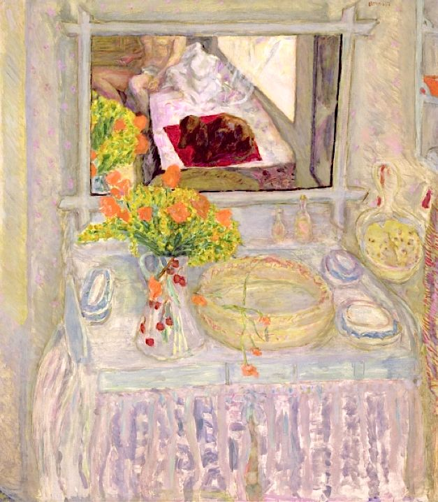 Dressing Table with Mirror, c.1913 - Pierre Bonnard http://anonimodelapiedra.blogspot.com.es