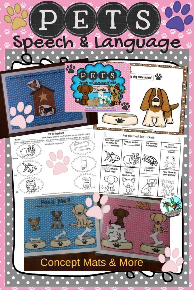 $ Pet-themed articulation and language activities your students will love!!