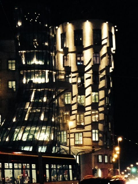Dancing Building on Friday night