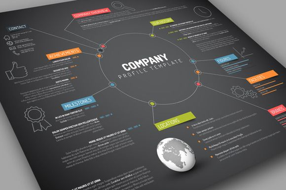 Example Of Company Profile Template Enchanting 69 Best Profiles Images On Pinterest  Graph Design Page Layout And .