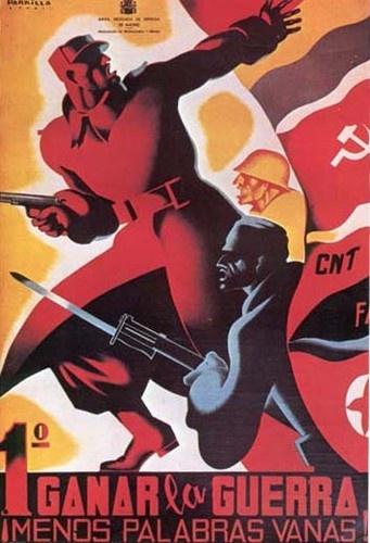 1.º Ganar la guerra ¡Menos palabras vanas! Spanish Civil War #Spain #war #poster