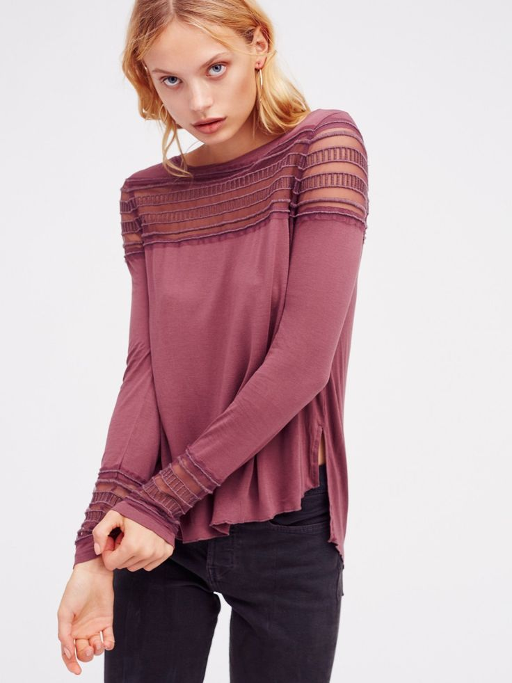 Washed Purple Roxie Tee | Irresistibly soft long sleeve tee