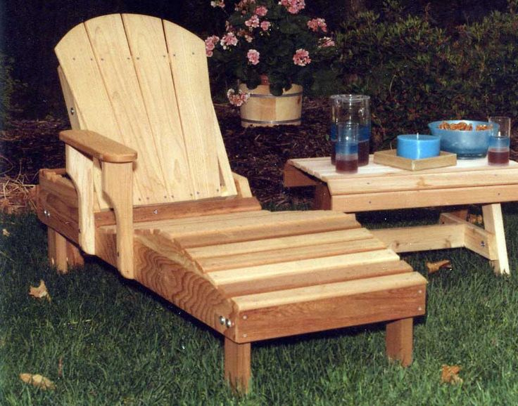 Cedar chaise lounge chair plans woodworking projects plans for Chaise adirondack plan