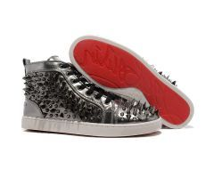 2012 Best Cheap Christian Louboutin Louis Spikes Mens High Top Leather Sneakers Gun Color CODE: Christian Louboutin 1996 Price: $238.00 http://www.bestpricechristianlouboutin.com/2012-best-cheap-christian-louboutin-louis-spikes-mens-high-top-leather-sneakers-gun-color.html
