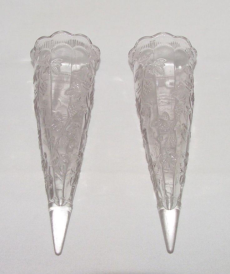 Perfect Pair Vintage Grapevine Cone Shaped Car Vases Ebay Car
