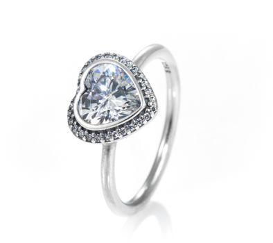 PANDORA Sparkling Heart Ring 190929CZ | John Greed Jewellery