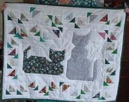 Kittens in the Garden, made for my Mom.