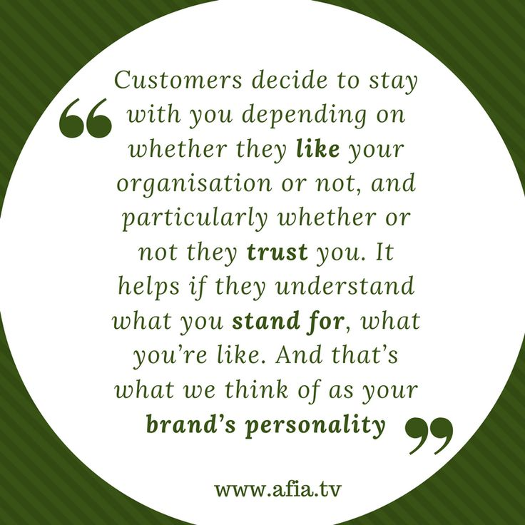 Customers stay with your brand on the basis of personality #branding #brandpersonality