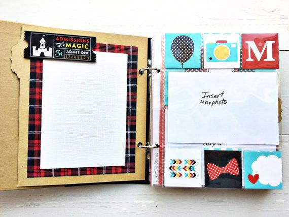Cherish your vacation memories from Disney in this premade mini scrapbook titled Magical Adventure. This mini scrapbook album makes a perfect gift for grandparents or use it to display your familys Disney fun at the Magical Kingdom.  The album is a Simple Stories 6x8 snap album (cover dimensions are slightly larger) created with the Magical Adventure collection from Echo Park paper. The album has 22 pages which include various size pocket pages and 3 dividers. It can accommodate 52 photos of…