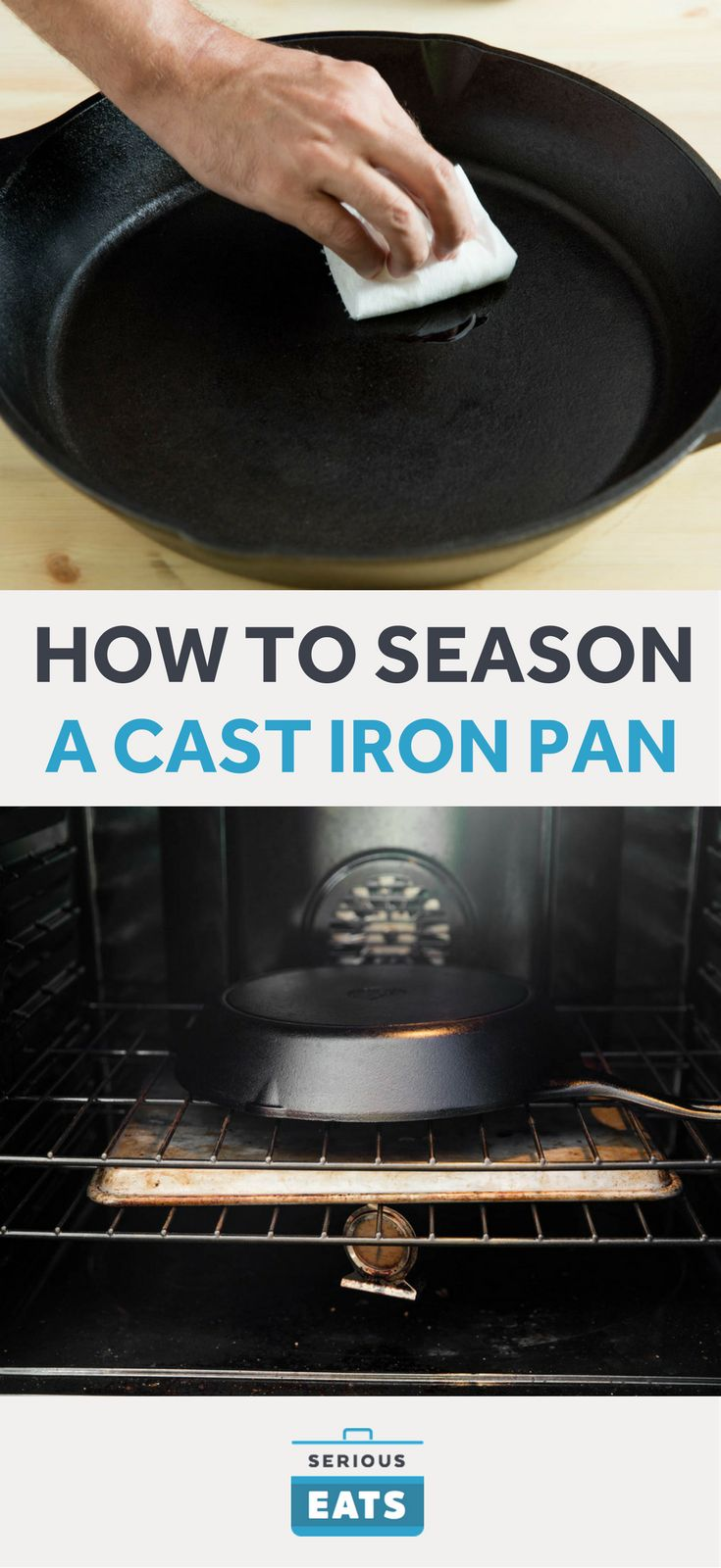 When you get a new cast iron pan, put it through one basic round of seasoning, then just...use your pan. Yeah, it really is that simple.