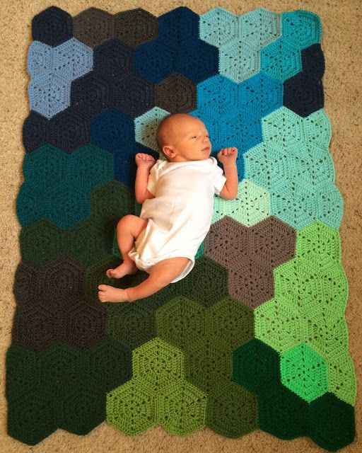 The Friendly Red Fox: Crochet Hexagon Blanket Pattern and Tutorial