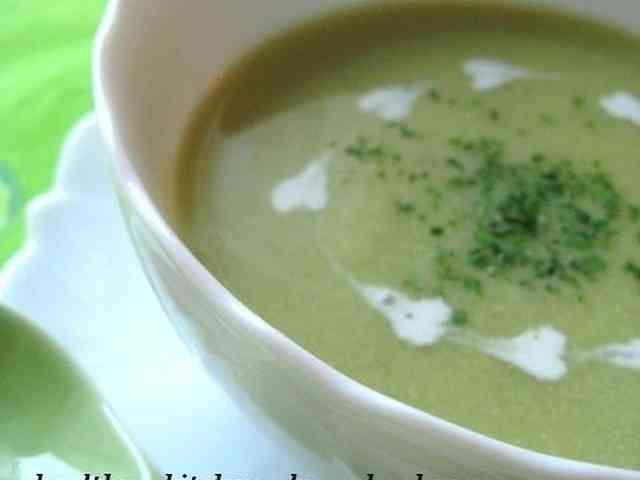 そら豆の冷製スープの画像