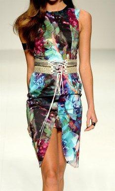Talulah mosaic hues dress, $249 | www.threadsandstyle.com.au
