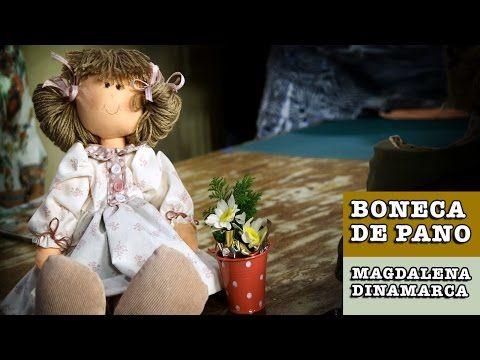 DIY - Boneca de pano Carina (Magdalena Dinamarca) - YouTube