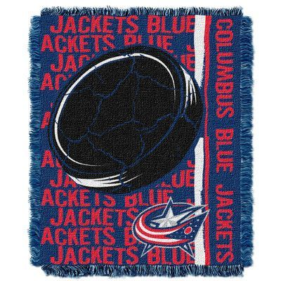 Northwest Co. NHL Blue Jackets Double Play Woven Throw
