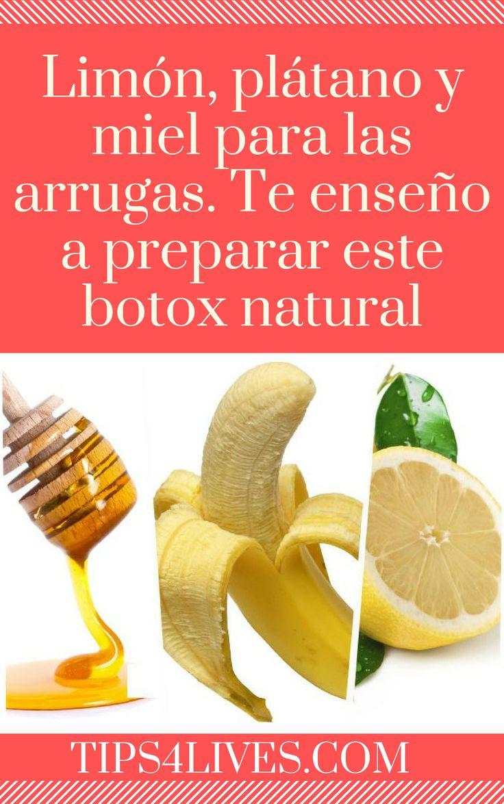 Limón, plátano y miel para las arrugas. Te enseño a preparar este botox natural