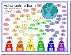 Astronauts to Earth Game Board
