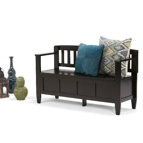 Storage Benches For Entryway Foyer Mud Room Furniture Front Porch Shoe Bench #WyndenHall