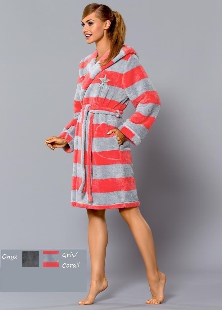 Peignoir Luxe femme doux confort FEE L&L Pillou Polaire qualité S M L XL