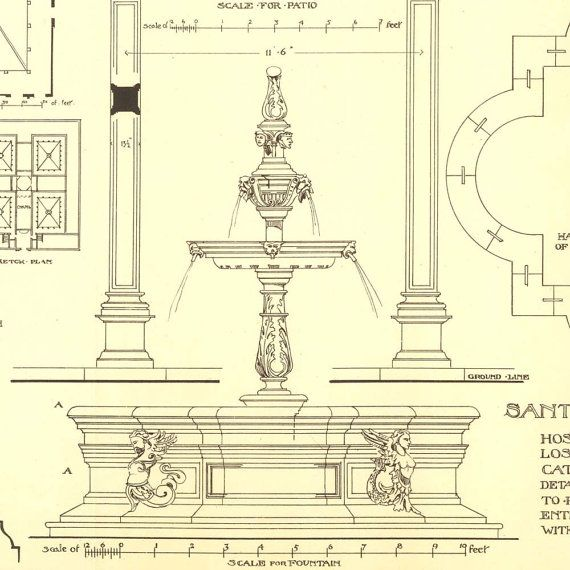 507 best classic arch drawings images on pinterest house for Printing architectural drawings