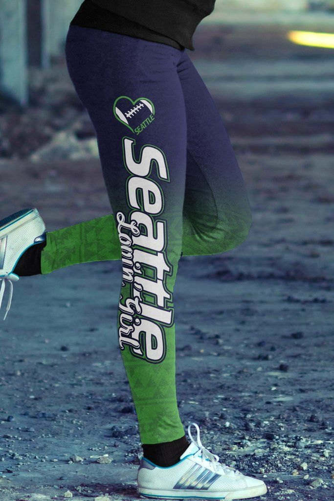 Fans are going crazy for these hot Seattle Football Lovin Girl Leggings!