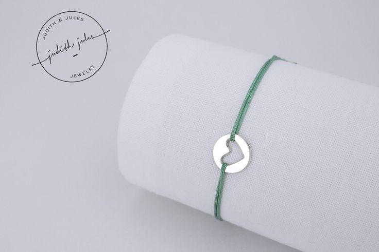Taufschmuck - GIULIA - Armband (925 Sterling Silber & Nylon) - ein Designerstück von Judith-Jules bei DaWanda