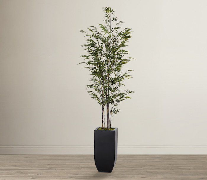 plantes vertes artificielles haut de gamme avec ce bambou artificiel dans son pot