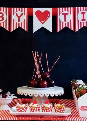 Delightful red & white baby shower ideas | Beautiful party themes | YourParenting