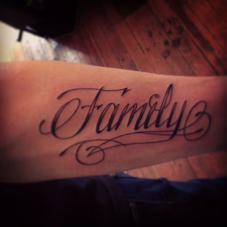 My Husband's Tattoo: Family. #script #tattoo