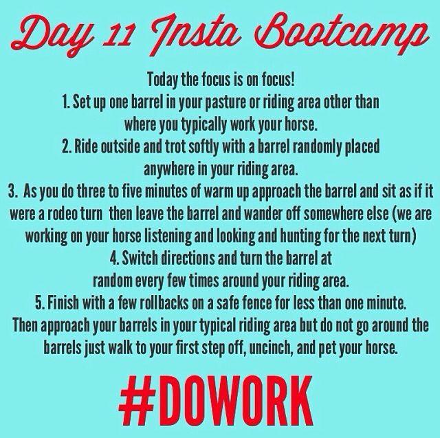 Barrel boot camp day 11! Fallon Taylor
