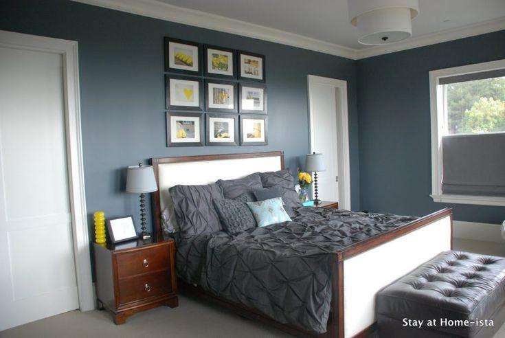 Splendid Light Blue Walls Grey Carpet Bedroom Delectable Blue Grey Feature Wall Bedro Bedroom Color Schemes Grey Colour Scheme Bedroom Blue Walls Living Room