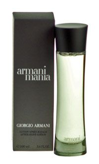 Armani Mania For Men Aftershave 100ml Splash The freshness of Mania is built around a sensual amber-woody accord that reminds you of cashmere, flannel, and wool. http://www.comparestoreprices.co.uk/aftershave/armani-mania-for-men-aftershave-100ml-splash.asp