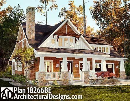 Cottage House Plan 18266BE. Around 1,900 sq. ft. and 2 to 3 beds.: