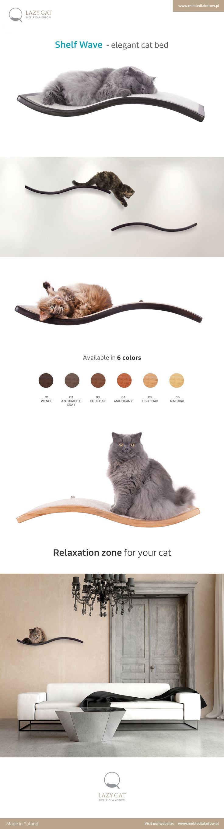 Shelf Wave - elegant cat bed