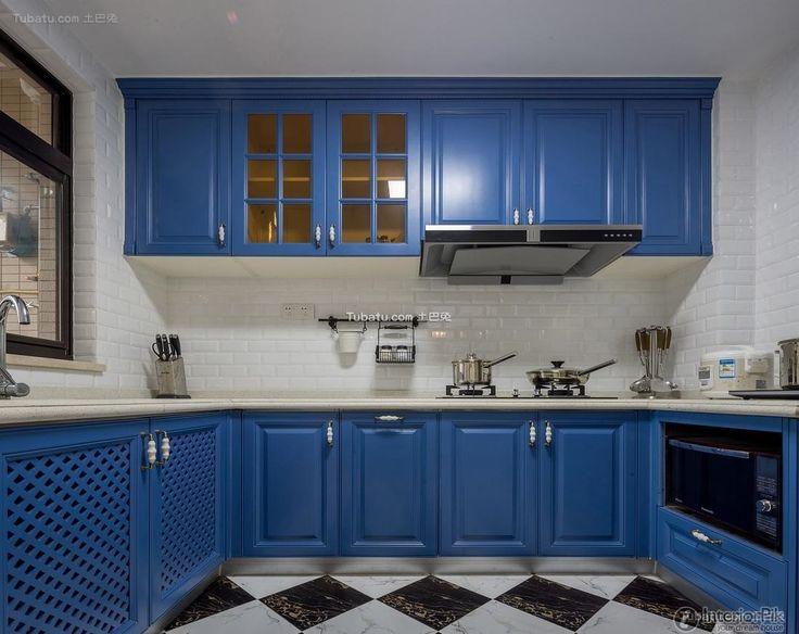 European Retro Style Kitchen Interior Renderings 2016