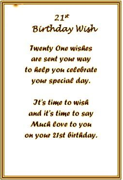 Best 25 21st Birthday Poems Ideas On Pinterest 21st Presents Happy 21st Birthday Wishes For