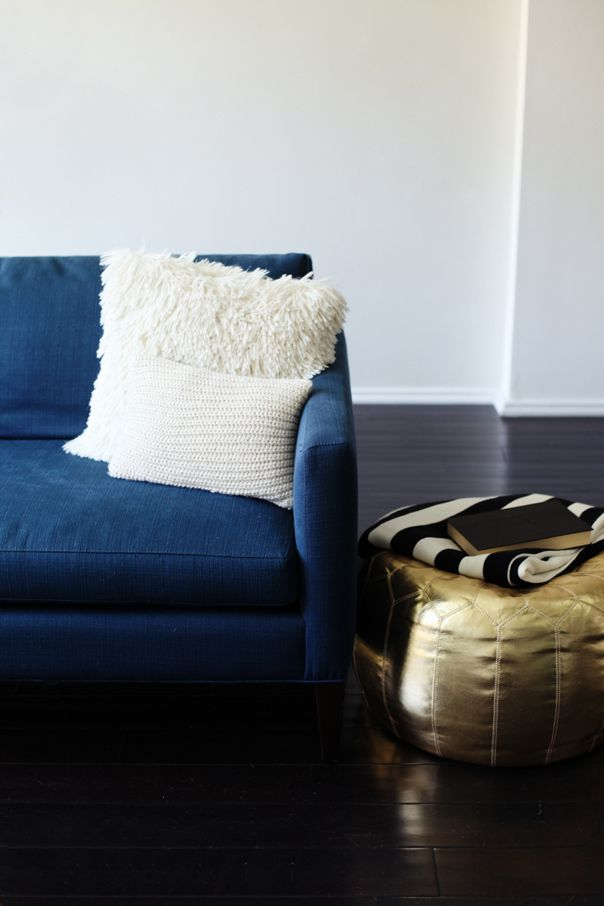 living room poufs%0A Style At Home  Sarah Sherman Samuel