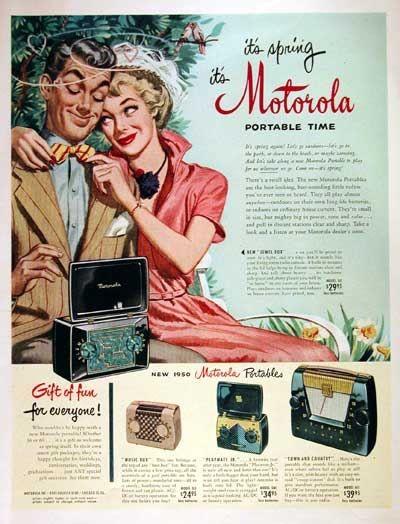 Motorola Portable Radios 1950: Portable Radios, Motorola Vintage, Motorola Portable, Vintage Poster, Ads Port Tv Radios, Banners Online, Vintage Ads, Awesome Vintage, Vintage Advertising