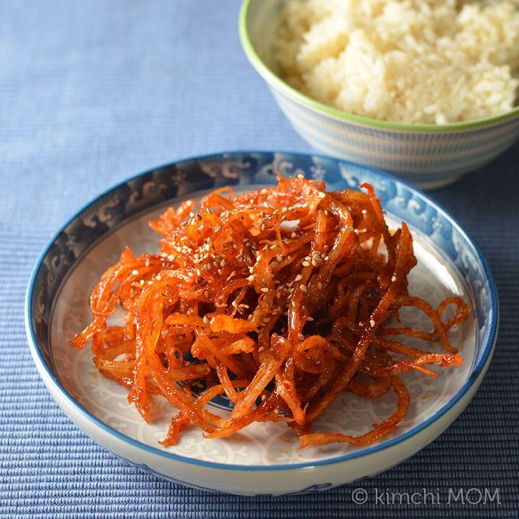 Korean Seasoned Dried Squid (Ojingeochae muchim)