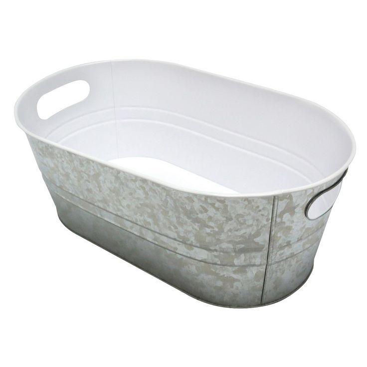 Tabletop Steel Beverage Tub -Silver