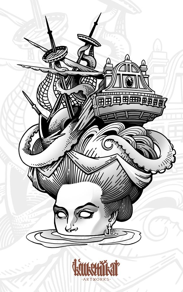 Neo-traditional tattoo flashset on Behance
