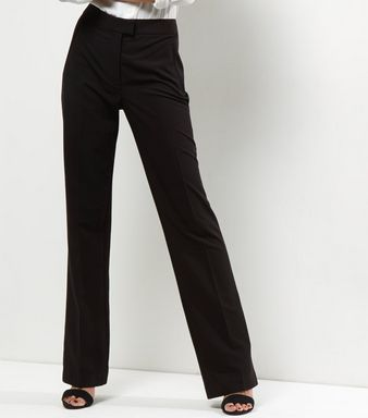 Black Chelsea Bootcut Trousers    New Look