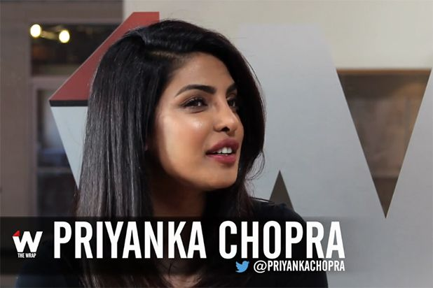 """""""Baywatch"""" star Priyanka Chopra teases her character and talks about doing stunts in high heels! Just bought two copies of In Style with her on cover<3"""