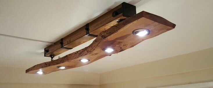 Diy Live Edge Oak Slab Kitchen Light