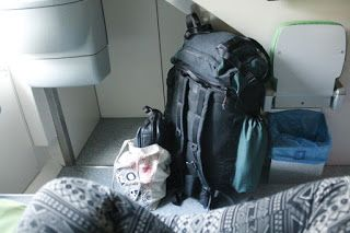 Martje. travelling in the train
