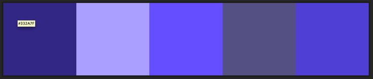 Dark palette with indigo and lavender.